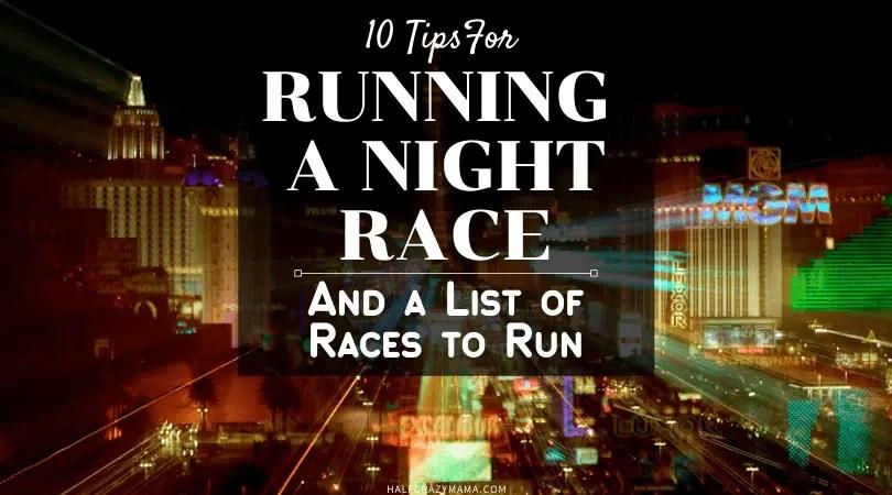running a night race