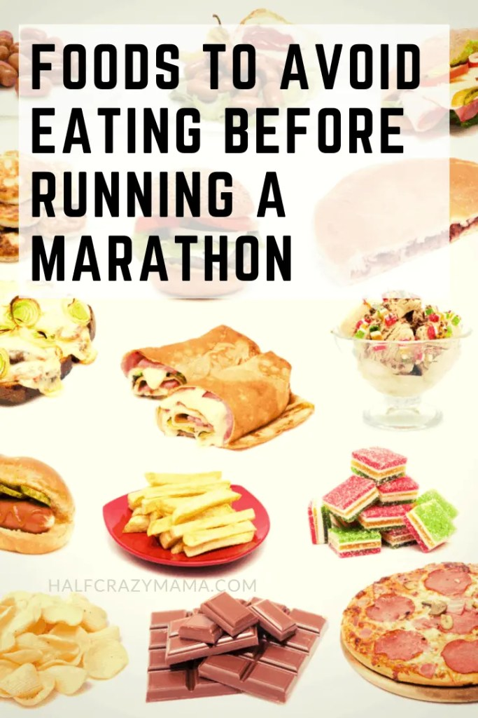 Foods to avoid before running