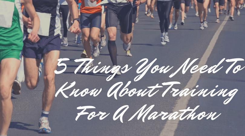 running a marathon on a road