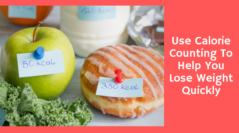 donut and apple with calorie counts
