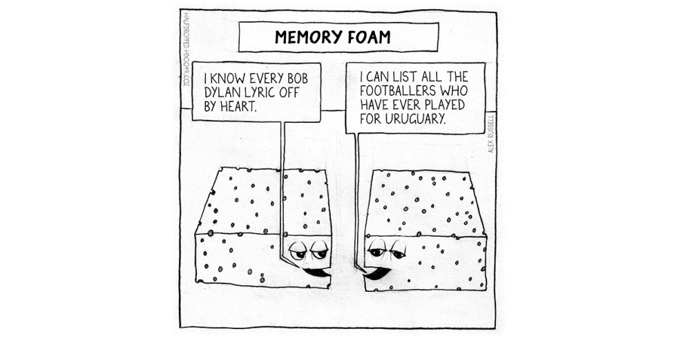 Memory Foam Halfdropped cartoon