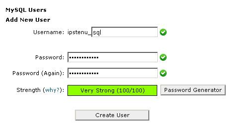 MySQL - Add New User