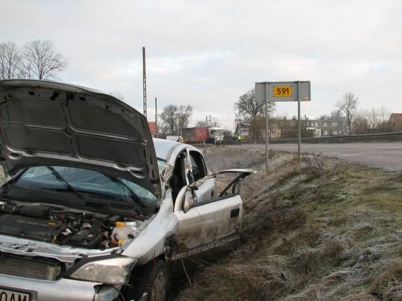 Car Crash in a ditch