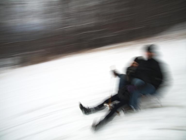 People sledding