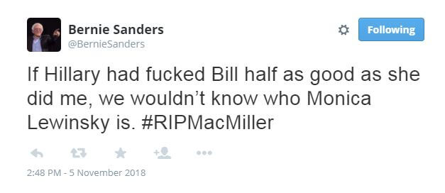 Bernie Sanders Fake Tweet
