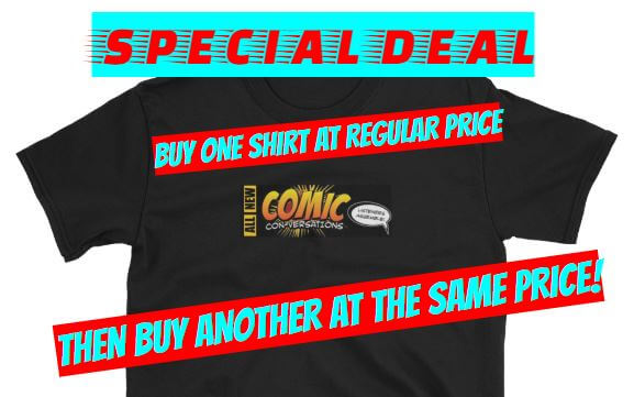 Comic Conversations t shirt ad