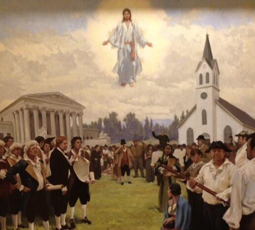 Jesus and God and USA