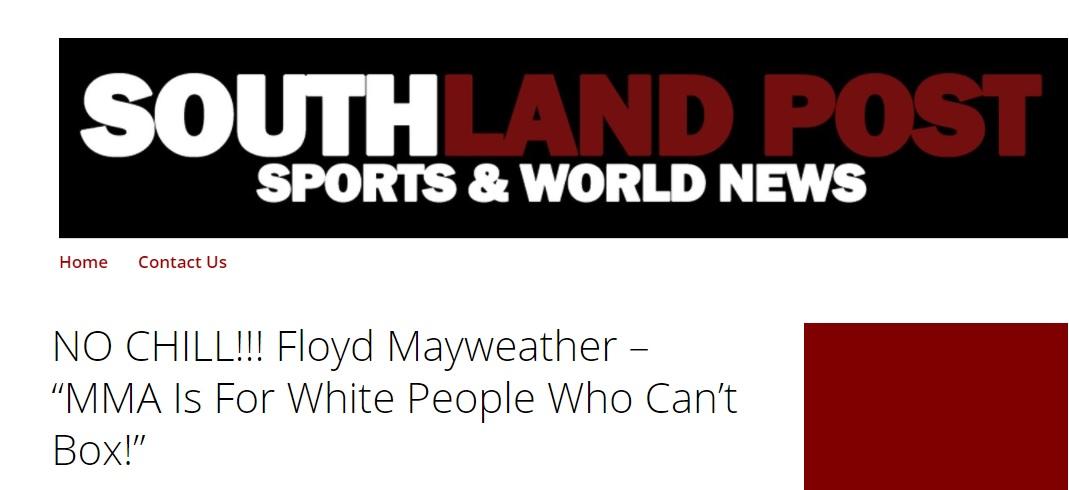 floyd mayweather racist hot take