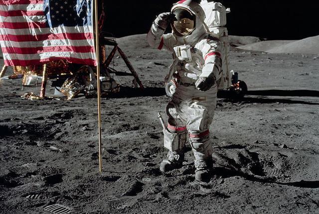 walking on moon