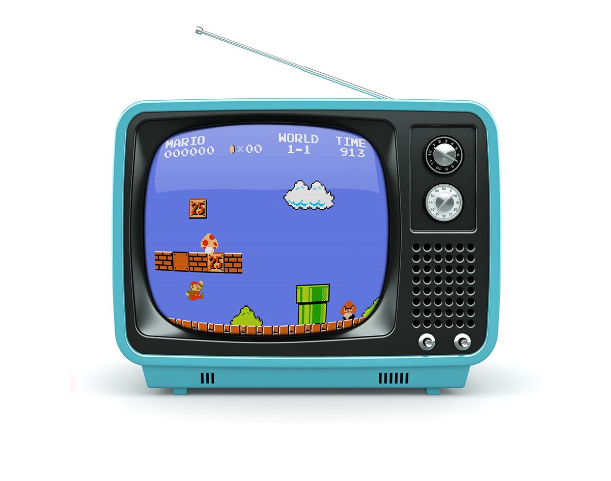 old tv mario