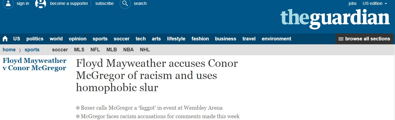 racism mcgregor mayweather