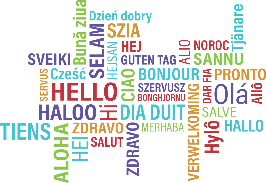 Saying hello in different languages