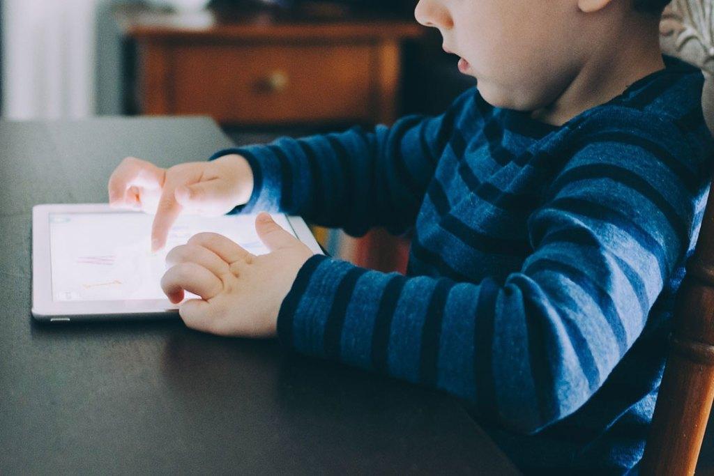 Little boy with an ipad