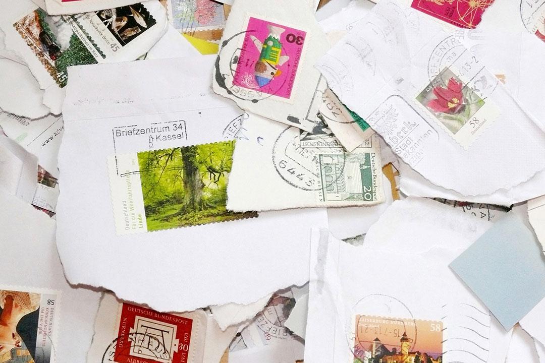 postage stamps on envelopes