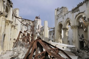PORT-AU-PRINCE - AUGUST 22: A collapsed church in Port-Au-Prince, Haiti on August 22, 2010.