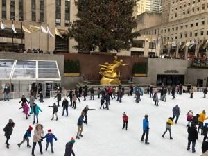 Skaters at the Rockefeller Center
