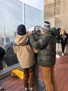 Checking out the Empire State Building