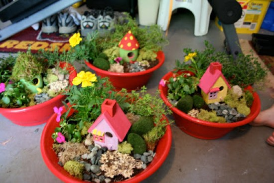 Top Party Trends for 2017. Trend 1: Still loving nature...fairy garden, lumberjack, camping, glamping, woodland, cactus. | Halfpint Design - Mini-Fairy garden