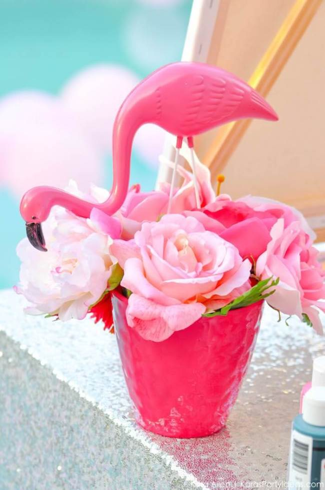 Flamingo pool or bach party. Tropical party. Small World gets big with cultural party themes | Halfpint Design