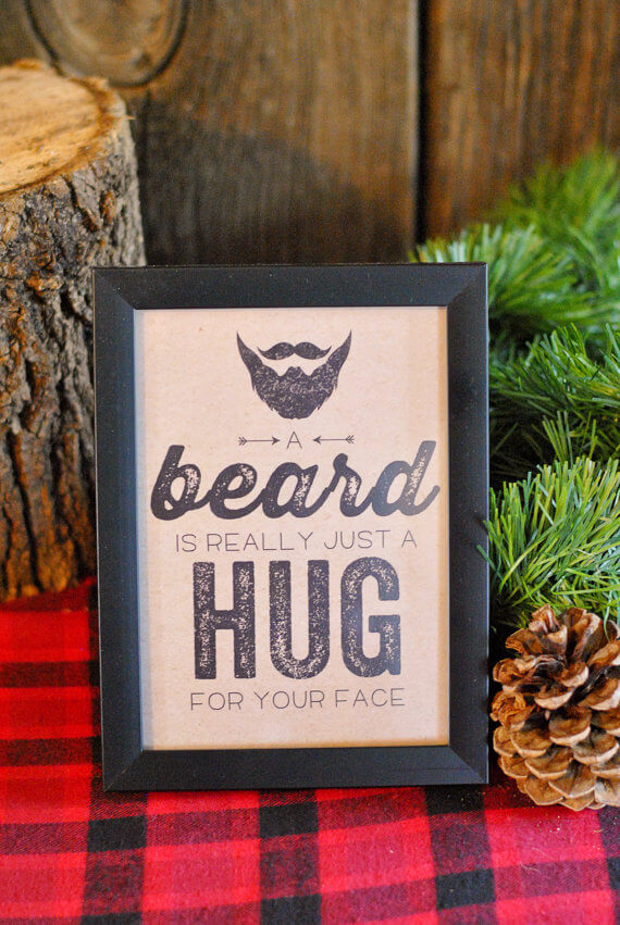 Top Party Trends for 2017. Trend 1: Still loving nature...fairy garden, lumberjack, camping, glamping, woodland, cactus. | Halfpint Design - A beard is really just a hug for your face.