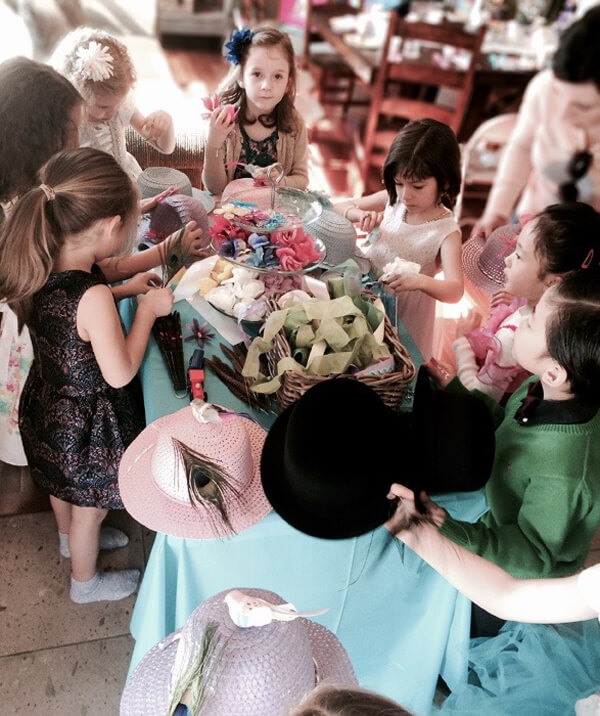 Mad Hatter Millinery, making hats, Alice in Wonderland Tea Party | Halfpint Design
