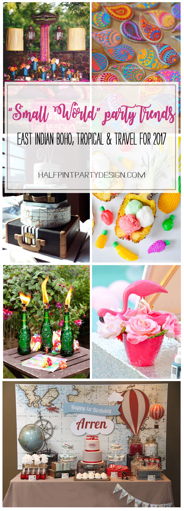 Small World Gets Big - Party Trends for 2017: Trend 4 | Halfpint Design