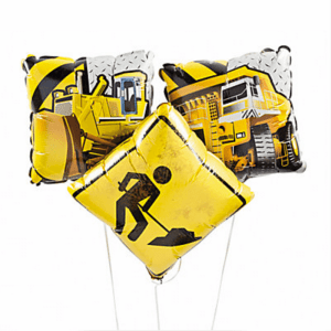 Construction Party Sources | Halfpint Design - These mylar balloons are a great addition to any construction party decor.