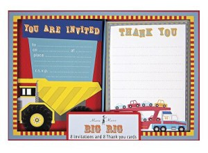 Construction Party Sources | Halfpint Design - darling invitations and thank you cards from Meri Meri (no longer available?)