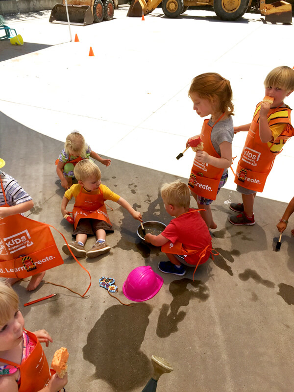 3rd birthday - Construction Party Blast | Halfpint Design - Painting with water activity
