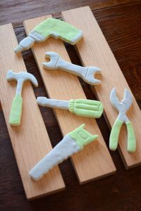 Construction Party Sources | Halfpint Design - Tool cookie cutters are a great favor idea for a construction party - give away the cutters or make your own tool cookies to tuck into the tool belt.