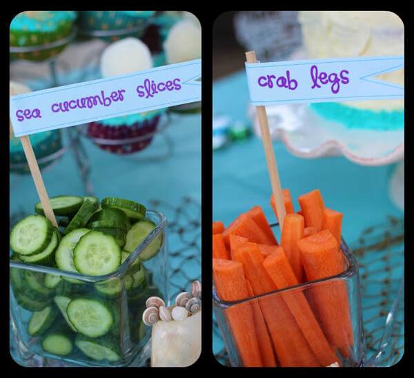 Why I Say NO to Dessert Buffets | Halfpint Design - Kids these days already consume way too much sugar. Let's give them all the fun without the crash. Make the food fun. Add great food labels to transform everyday food into something exotic.