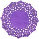 A Passion for Purple   Halfpint Design - Doilies aren't for your grandmother's party anymore! Doilies are such a versatile piece of decor that can be used in SO many different ways.