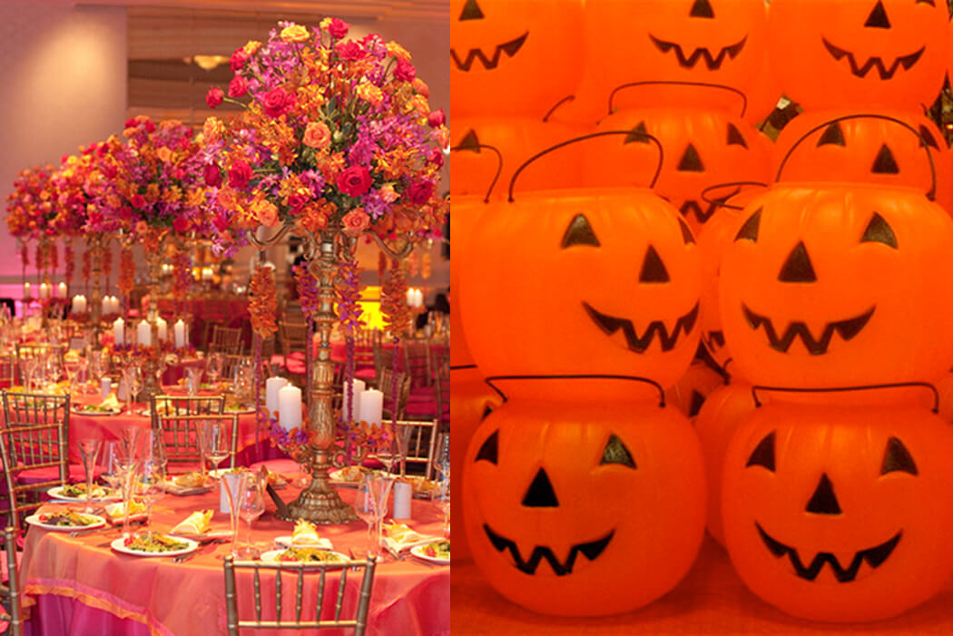 """Springtime Party Color Palettes   Halfpint Design - We all have individual color associations based on personal experience and culture. I think of plastic pumpkins when I hear """"orange"""" whereas this Indian wedding uses orange in a very elegant way"""