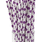 A Passion for Purple   Halfpint Design - Polka dot straws make a cute addition to any purple party! Use for beverages, cake pop sticks, and more