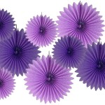 A Passion for Purple | Halfpint Design - Purple fans layered together create a beautiful backdrop, or hang them for a stunning display.