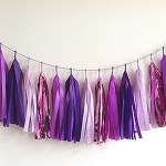 """A Passion for Purple   Halfpint Design - """"Purple rain"""" party tassel garland is a beautiful addition to any purple party."""