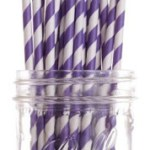 A Passion for Purple | Halfpint Design - Purple straws are a must for a purple party! Use for drinks, as cake pop sticks, and more.