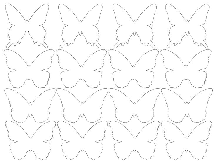 DIY Butterfly Party Favor | Halfpint Design - Butterfly silhouette printable. Print PDF file onto cardstock and cut