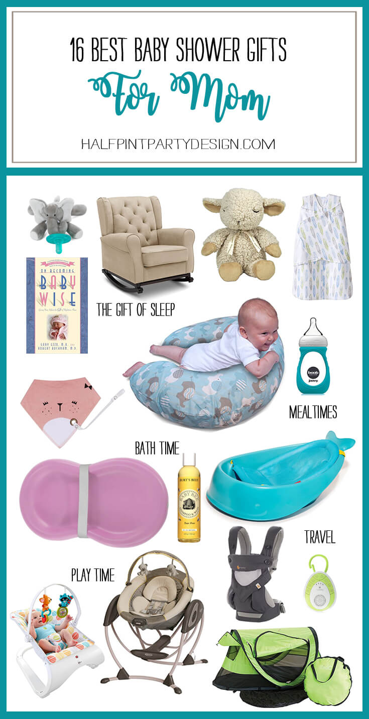 16 Best Baby Shower Ideas for Mom | Halfpint Design - It's so hard to know what you REALLY need and what's just really cute. All of these items were voted on by moms as gifts they could not live without.