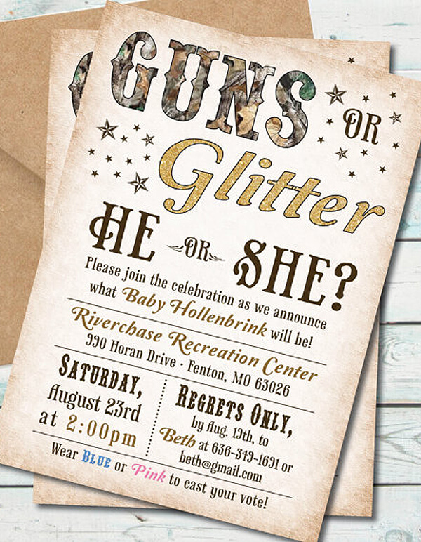 Humorous Gender Reveal Party Ideas Halfpint Party Design – Reveal Party Invites