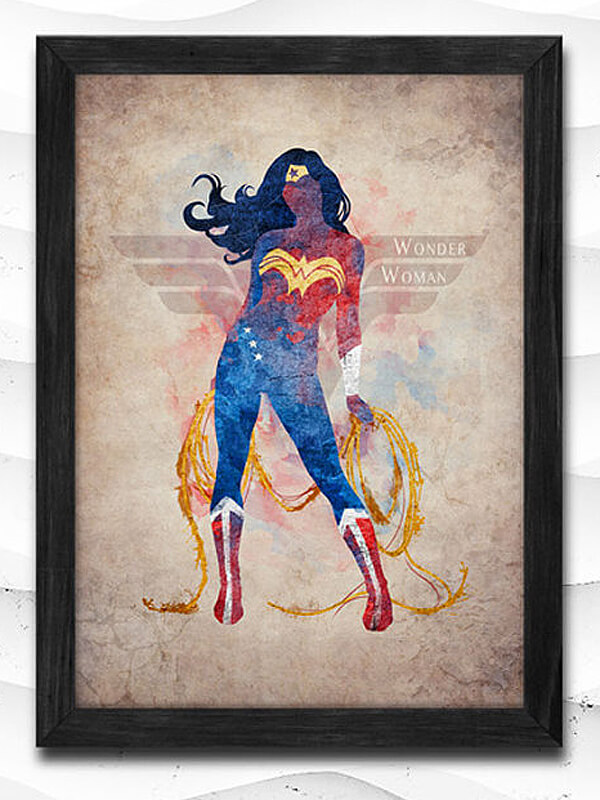 This updated Wonder Woman print is an awesome addition to a Wonder Woman  party and is