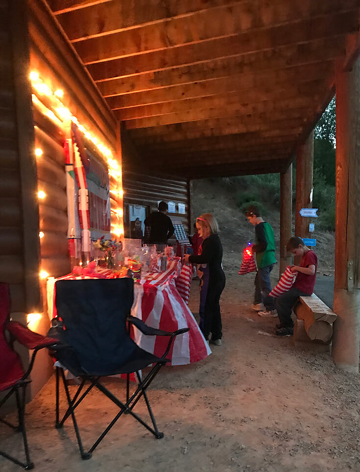 Carnival Theme Family Reunion | Halfpint Design - Having the string lights allowed the fun to last into the night. Carnival party, circus theme.