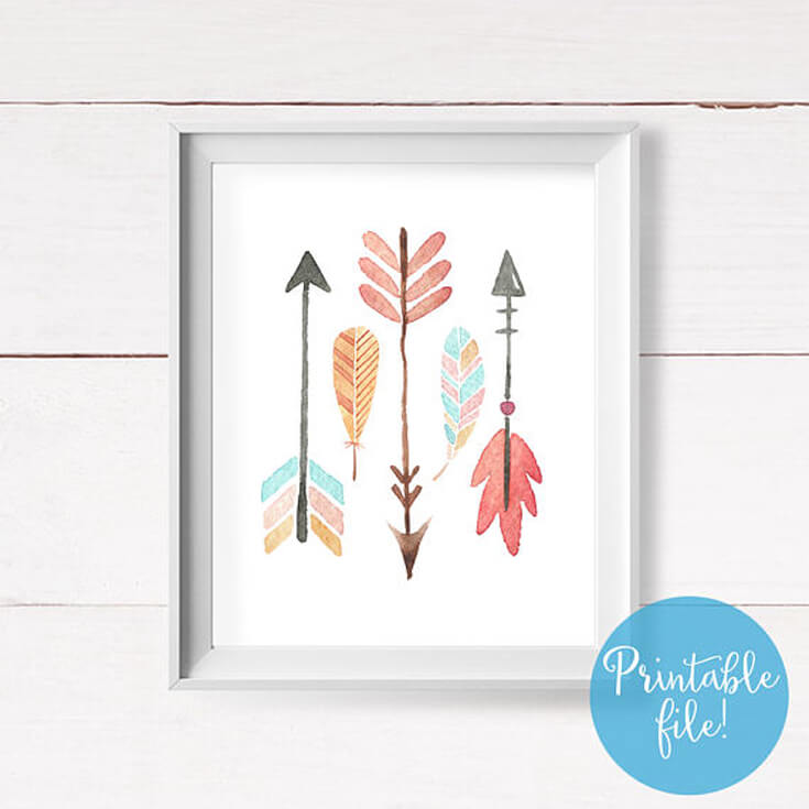 Bows or Arrows: Gender Reveal Party Ideas | Halfpint Design - This darling arrow graphic would make a great addition to a gender reveal, boho baby shower, or Wild one birthday party.