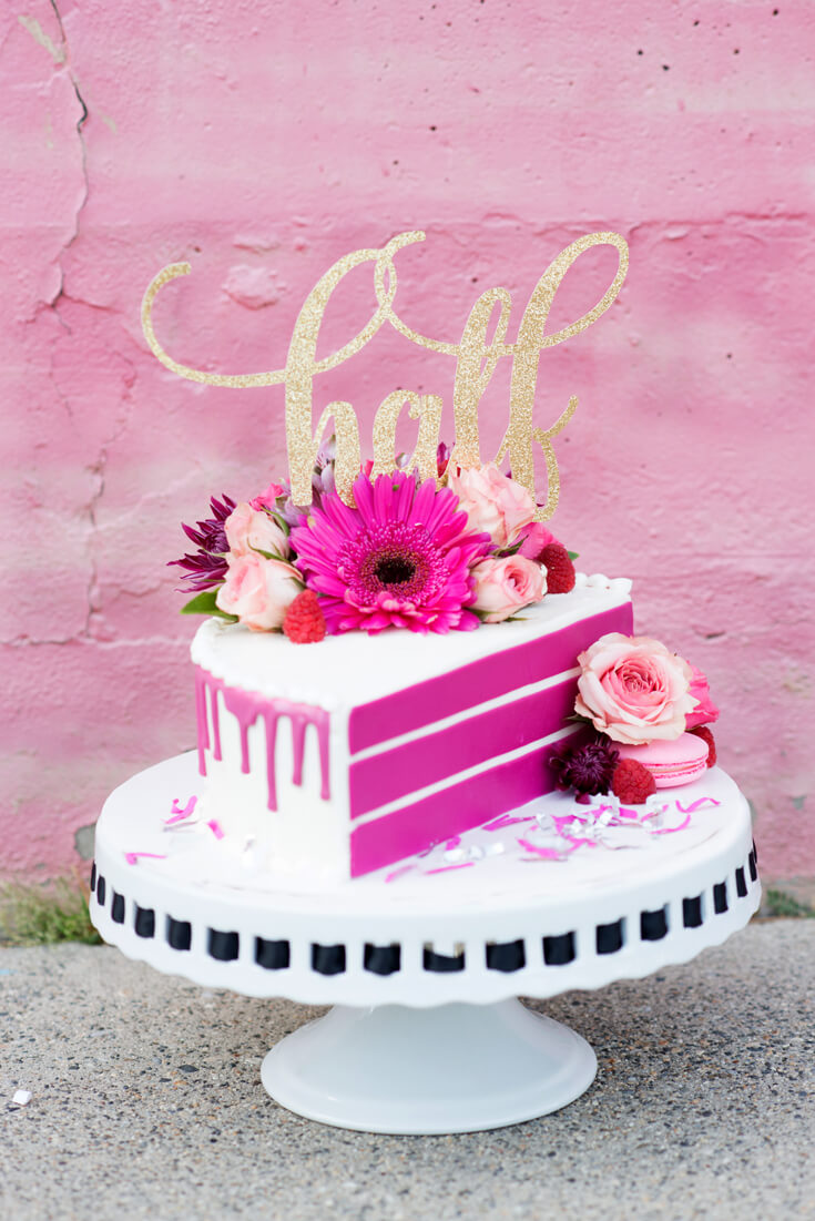 """Halfpint Design celebrates a half birthday with the launching of a new Halfpint Party Design Etsy Shop! Who wants a piece of our """"half"""" cake?"""