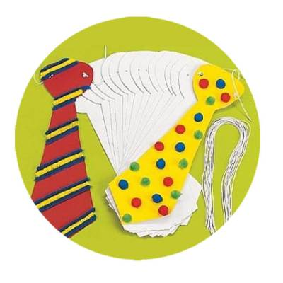 Make a clown tie with simple supplies! A great ideas for your PTA fundraiser or back to school carnival or just a carnival themed classroom activity! Check out this list of great and easy carnival and circus crafts. Some DIY, some D-I-BUY. Both very simple and fun. Carnival Crafts for Busy Bodies | Halfpint Design, circus craft, circus party, carnival party, kids crafts, kids activities.