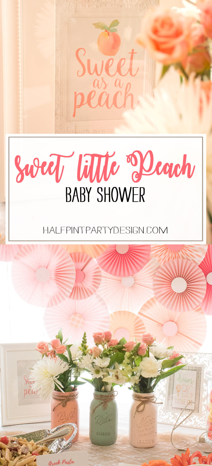 Beautiful A Sweet Little Peach Baby Shower Is Perfect For Mommy To Be And Baby