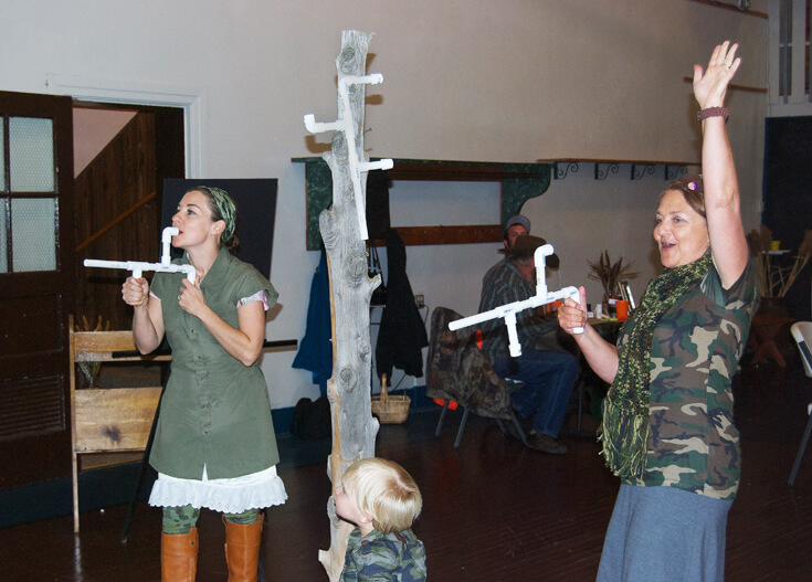 """We had a mashmallow shooting contest with PVC mallow """"guns"""". It was awesome! Hunting Themed Birthday Party 