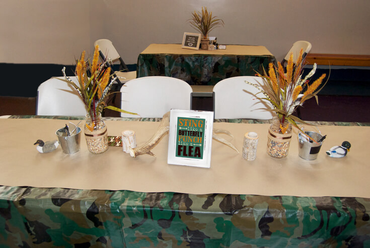 Sting like a butterfly, fight like a flea. Hunting Themed Birthday Party | Halfpint Design - Duck Dynasty, duck hunt party, hunting party, birthday party theme