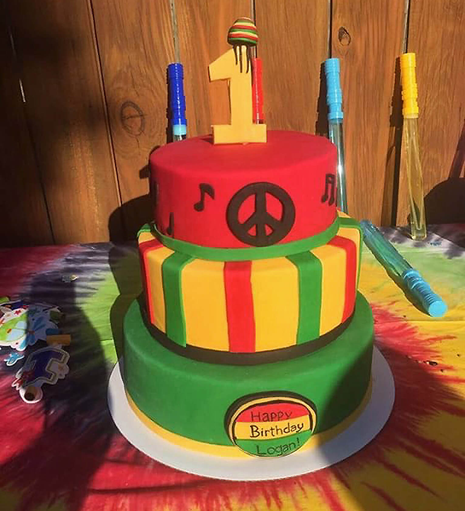 Fb Rasta First Birthday Cake One Love First Birthday Party