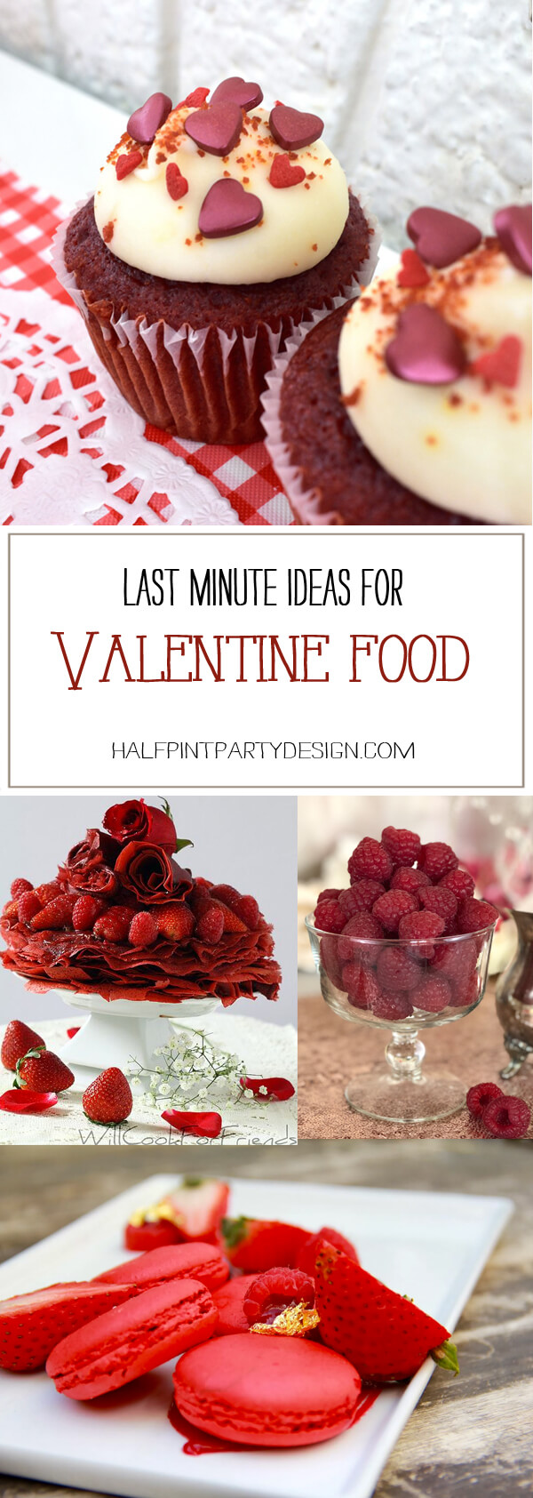 Quick and easy ways to make your holiday special. Last Minute Valentines Party Food Ideas on Halfpint Design. Red food